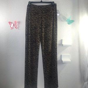 Clara Sun Woo XL pant black and copper knit